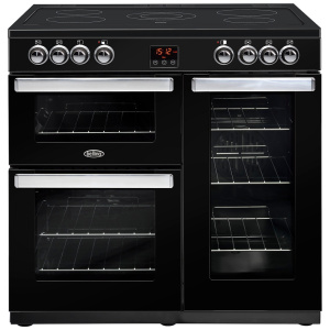 Belling Cookcentre 90E Black 90cm Electric Ceramic Range Cooker