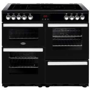 Belling Cookcentre 100E Black 100cm Electric Ceramic Range Cooker