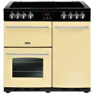 Belling Farmhouse 90E Cream 90cm Electric Ceramic Range Cooker