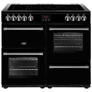Belling Farmhouse 100E Black 100cm Electric Ceramic Range Cooker