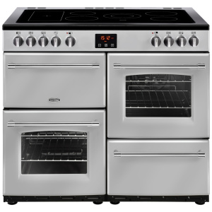 Belling Farmhouse 100E Silver 100cm Electric Ceramic Range Cooker