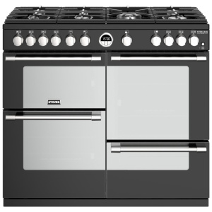 Stoves Sterling Deluxe S1000G Black 100cm Gas Range Cooker