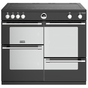Stoves Sterling Deluxe S1000Ei Black 100cm Electric Induction Range Cooker