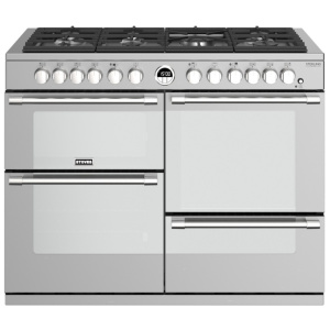 Stoves Sterling Deluxe S1100DFGTG Stainless Steel 110cm Dual Fuel Range Cooker